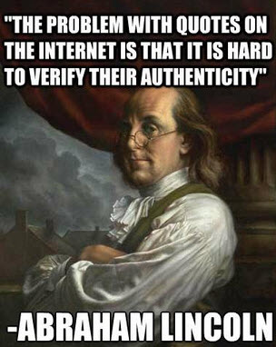 benfranklin quote by lincoln