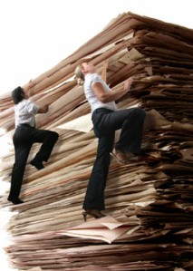 climbing-large-pile-of-paper