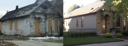 old house before and after