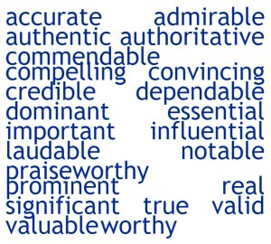 AUTHENTIC WORDS FOR WRITERS